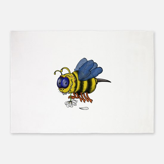 Monster Bee 5'x7'Area Rug