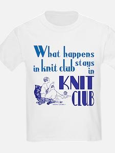 Knit club blue retro T-Shirt