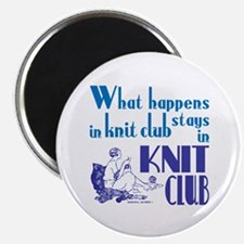 Knit club blue retro Magnets