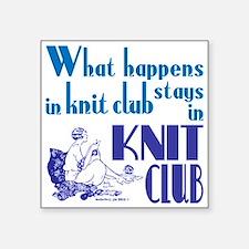 Knit club blue retro Sticker
