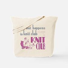 Knit club pink grey Tote Bag