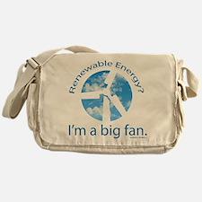 Big fan of renewable energy Messenger Bag