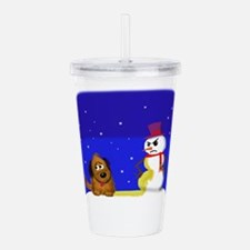merry christmas Acrylic Double-wall Tumbler