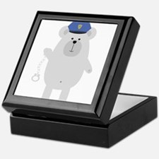 Polar bear with handcuffs Keepsake Box