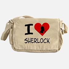 I Heart Sherlock Silhouette Messenger Bag