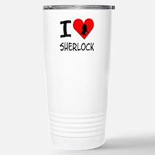 I Heart Sherlock Silhou Stainless Steel Travel Mug