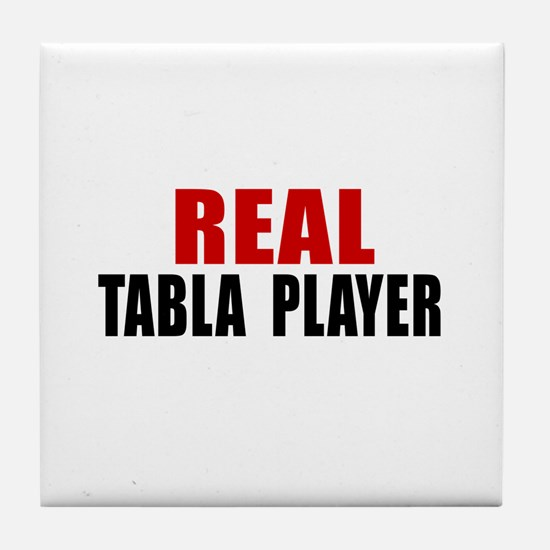 Real Tabla Player Tile Coaster