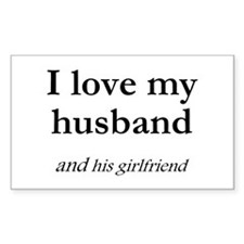 Husband/his girlfriend Rectangle Decal