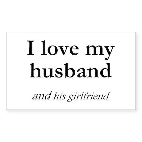 Husband/his girlfriend Rectangle Sticker
