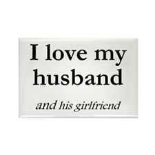 Husband/his girlfriend Rectangle Magnet