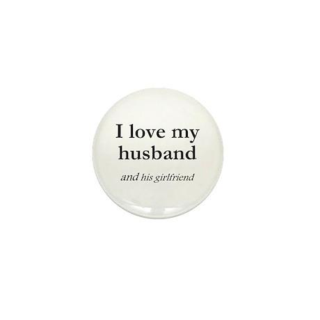 Husband/his girlfriend Mini Button (10 pack)