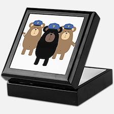 Police Officers bear squad Keepsake Box