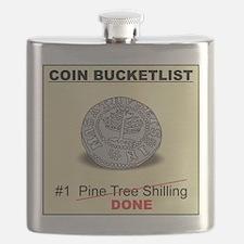 Pine Tree Shilling Bucketlister Flask