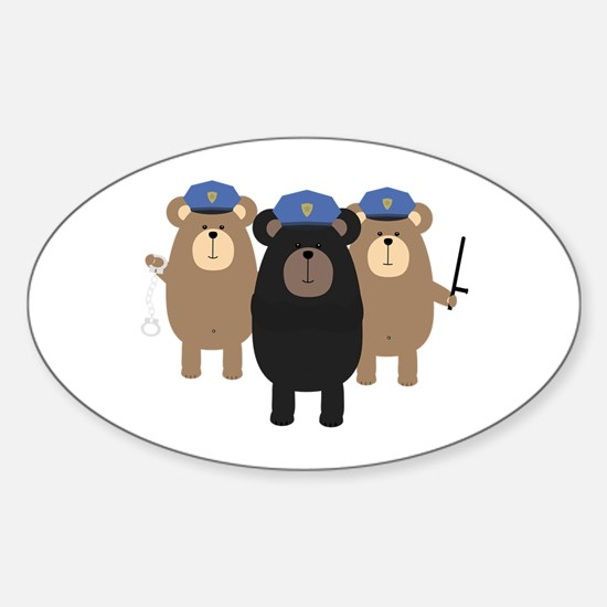 Police Officers bear squad Decal