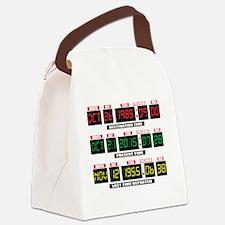 Unique Backtothefuturemovie Canvas Lunch Bag