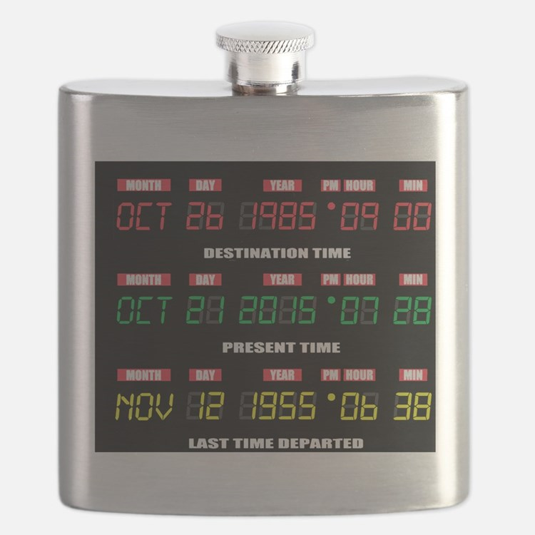 Cute Marty mcfly Flask