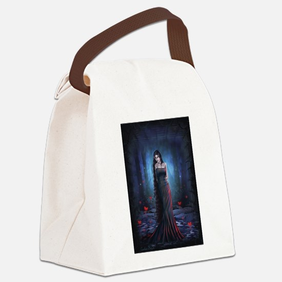Lady of the Dark Canvas Lunch Bag