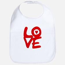 LOVE is all around Baby Bib