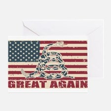 Great Again Flag Greeting Cards