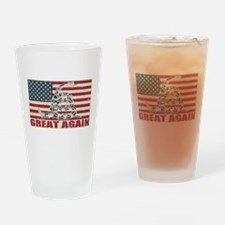 Great Again Flag Drinking Glass