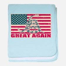 Great Again Flag baby blanket