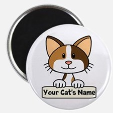Personalized Calico Cat Magnet