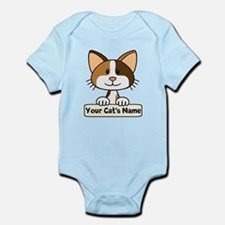 Personalized Calico Cat Infant Bodysuit