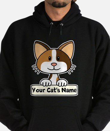 Personalized Calico Cat Hoodie (dark)