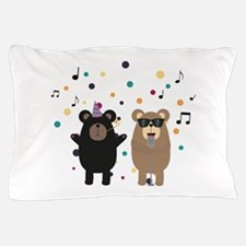 Party Bear music Pillow Case