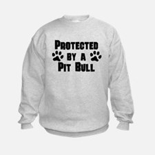 Protected By A Pit Bull Sweatshirt
