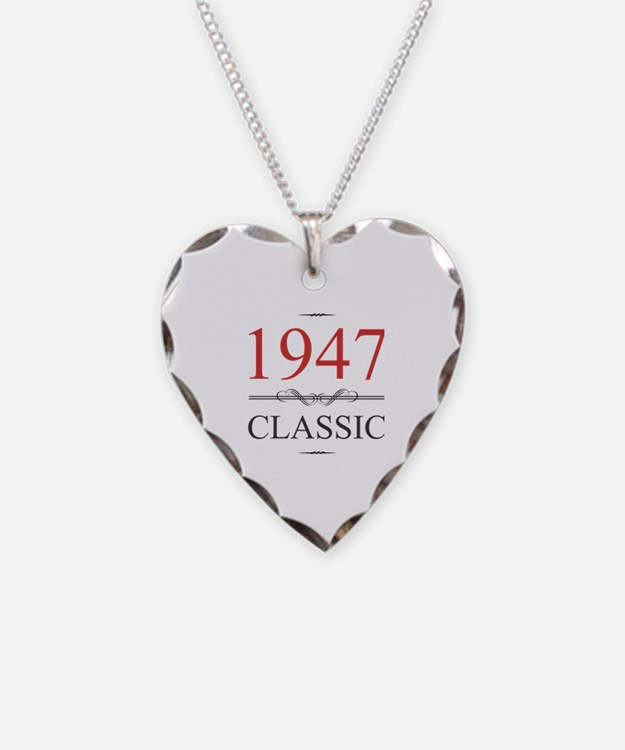 Cute 70th birthday Necklace Heart Charm