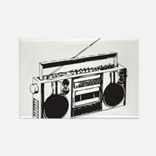 Cute Boombox Rectangle Magnet
