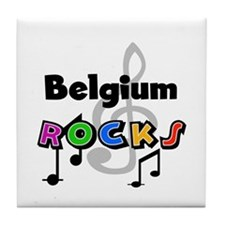 Belgium Rocks Tile Coaster