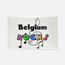Belgium Rocks Rectangle Magnet