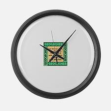 GEOCACHER Large Wall Clock