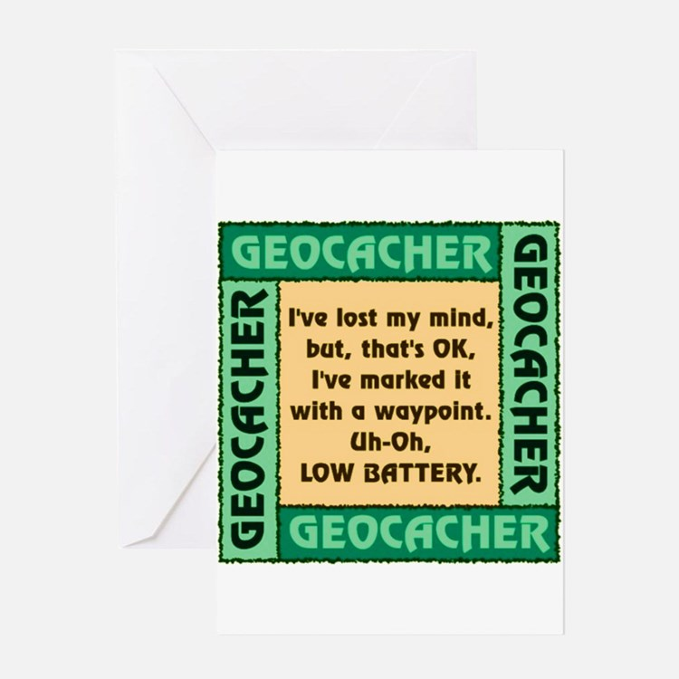 GEOCACHER Greeting Card