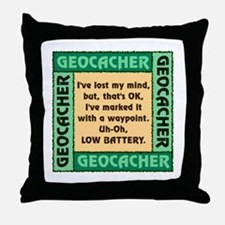 GEOCACHER Throw Pillow