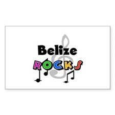 Belize Rocks Rectangle Decal