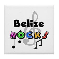 Belize Rocks Tile Coaster