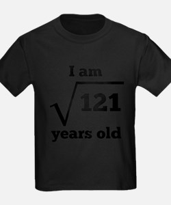11th Birthday Square Root T-Shirt