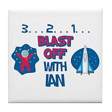 Blast Off with Ian Tile Coaster