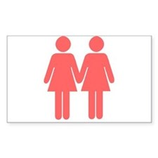 lesbian Rectangle Decal