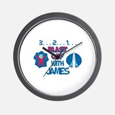Blast Off with James Wall Clock