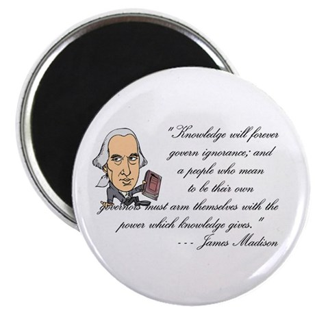 """Madison on Knowledge<br> 2.25"""" Magnet (100 pack)"""
