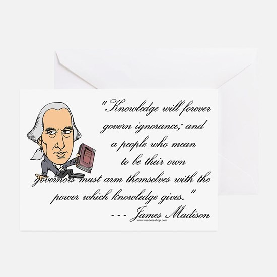 Madison on Knowledge<br> Greeting Cards (Package o