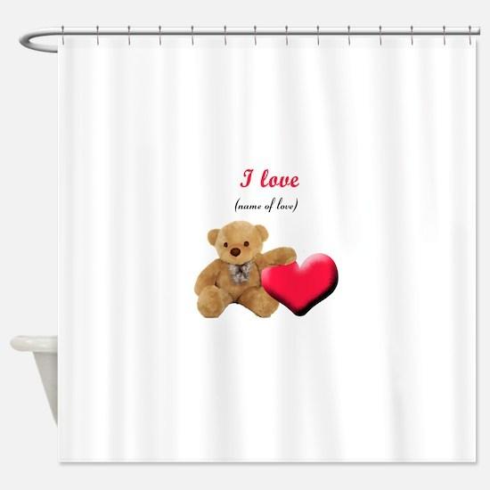 Valentines Day Love Shower Curtain