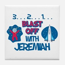 Blast Off with Jeremiah Tile Coaster
