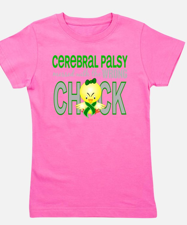 Messed With Wrong Chick 1 Cerebral Palsy T-Shirt