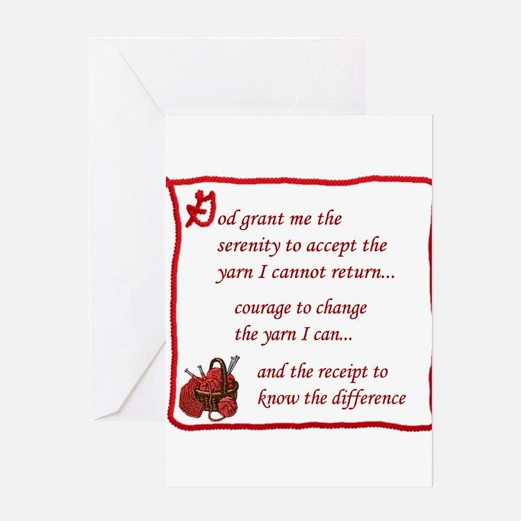 Yarnaholic prayer Greeting Cards