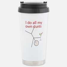 Cute I do all my own stunts Travel Mug
